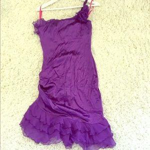 Betsey Johnson Purple Asymmetrical Dress